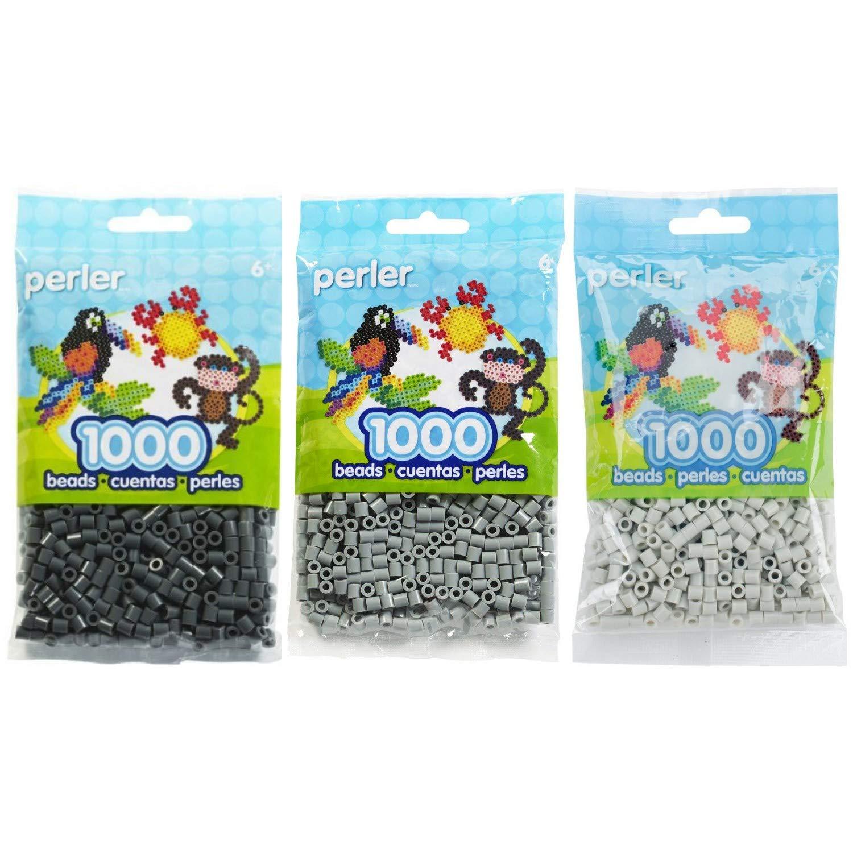 Canutillos Beads 6000 Unidades Gris oscuro,claro,gris (xam)
