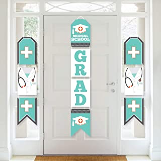 product image for Big Dot of Happiness Medical School Grad - Hanging Vertical Paper Door Banners - Doctor Graduation Party Wall Decoration Kit - Indoor Door Decor