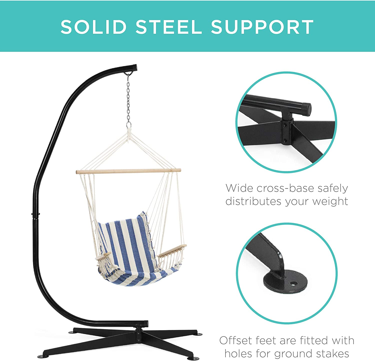 Best Choice Products SKY330 Hammock C Solid Steel Stand