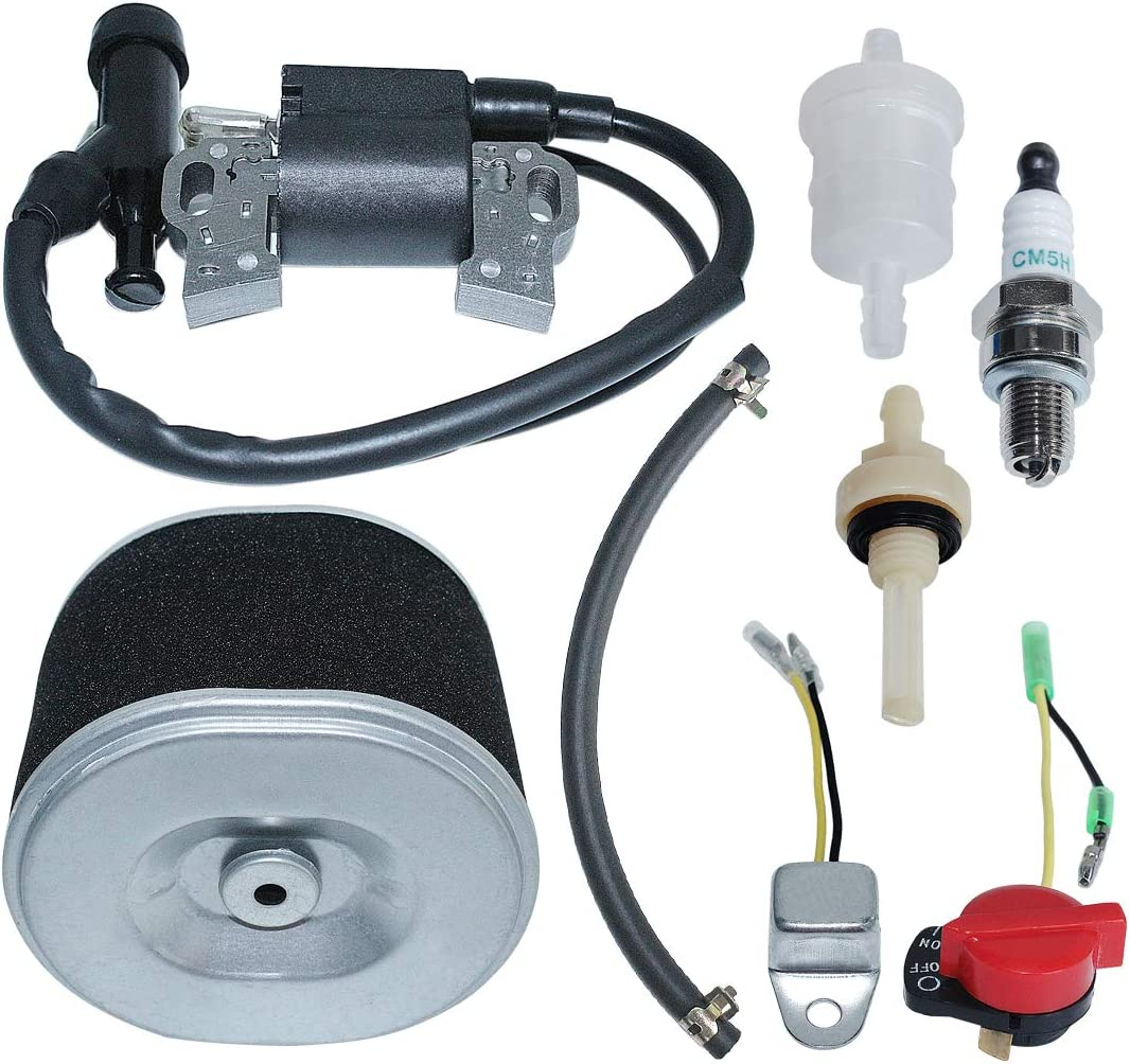AUMEL Air Filter Ignition Coil Kit Fit Honda GX340 GX390 11HP 13HP Fuel Line Joint Filter Replace 17210-ZE3-010.