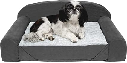 Furhaven Pet Dog Bed Available in Multiple Colors /& Styles Therapeutic Traditional Sofa-Style Deluxe /& Goliath Chaise Living Room Couch Pet Bed w// Removable Cover for Dogs /& Cats