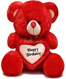 Babique 2 Feet Birthday Heart Stuffed Soft Teddy Bear - Red