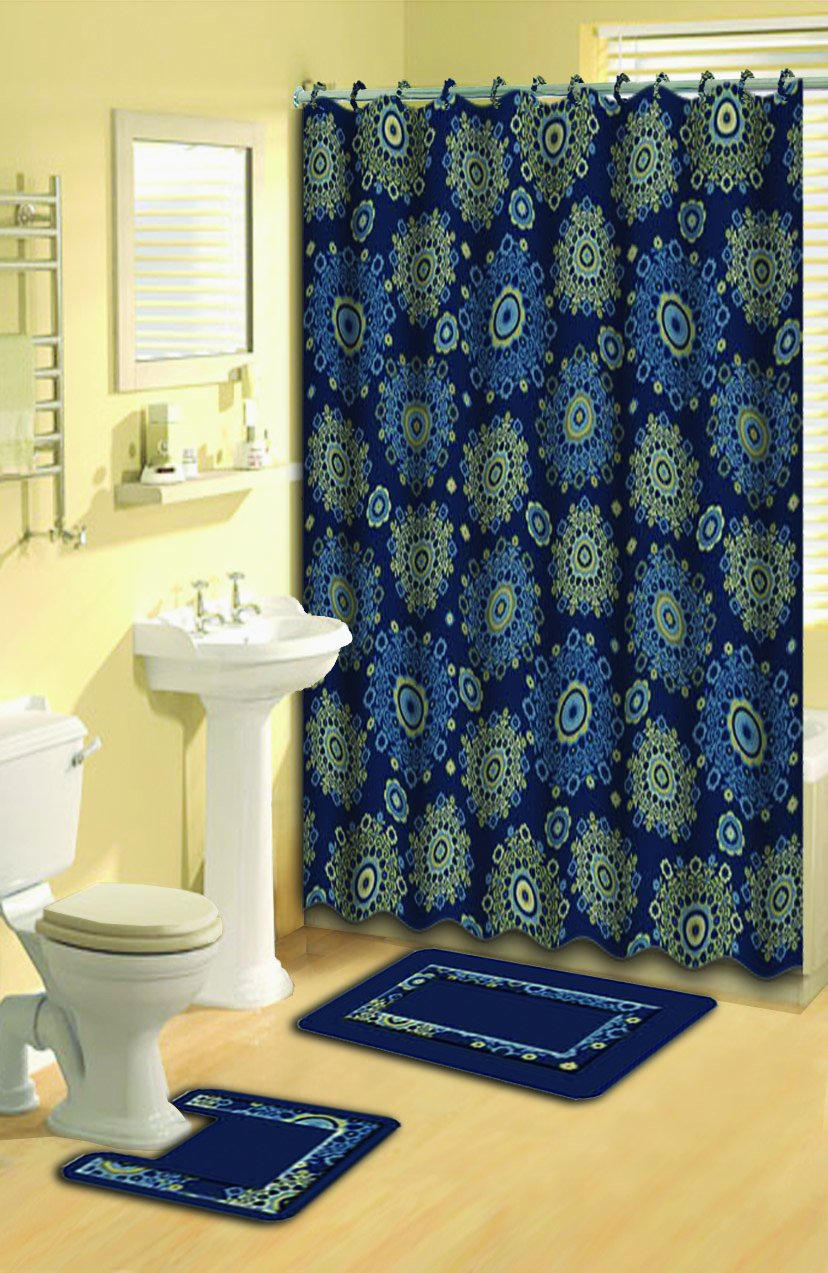 Home Dynamix 316-450 Bath Boutique Poly-Acrylic 15-Piece Bathroom Set, Black Home Dynamix -- DROPSHIP