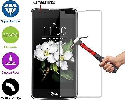 ZEWOO para LG K7 / LG Tribute 5 (5 Pulgadas) Protector de Pantalla Cristal Vidrio Templado Premium (9H *2.5D, 0,33mm): Amazon.es: Electrónica