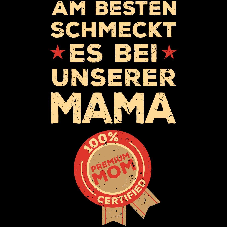 Fashionalarm Sch/ürze besten schmeckt es bei Mama Grill /& Kochsch/ürze mit Spruch als Geschenk Idee Mutti Mutter Kochen Grillen K/öchin