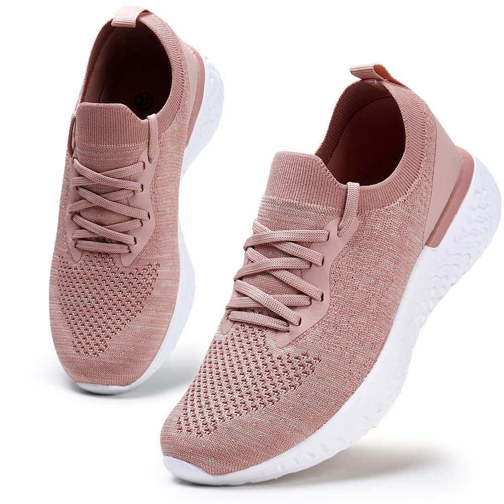 Damen Walkingschuhe Turnschuhe Laufschuhe Sportschuhe Fitness Sneakers Trainers f/ür Running Outdoor Schuhe Pink 41 EU