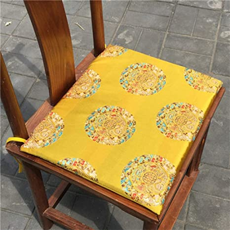 Amazon.com: Cojín para silla de comedor de seda china ...