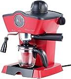 Rosenstein & Söhne Espressokocher: Dampfdruck-Siebträger-Espressomaschine ES-800.retro mit Aufschäumer (Siebträgermaschine)