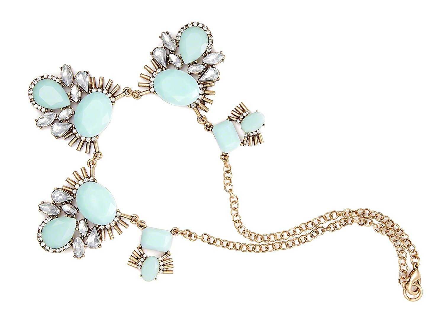 LA JOLIE MUSE Fashion Necklace for Party, Gift for Her Bee Rhinestone Crystal Gift for Women