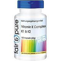 Complexe de Vitamines K - K1 & K2-120 gélules vegan - 120 gélules