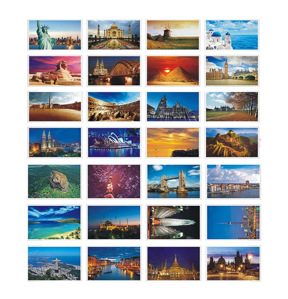 Beautiful World Travel Scenery 30 PCS Artistic Retro Postcards- D2 Dragon Sonic