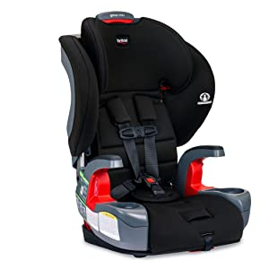 Britax Grow with You Harness-2-Booster Car Seat - 2 Layer Impact Protection - 25 to 120 Pounds, Dusk [Newer Version of Pioneer]