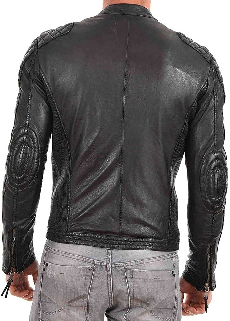 Cow Leather Jacket for Men Genuine Cow-Hide Jacket C500