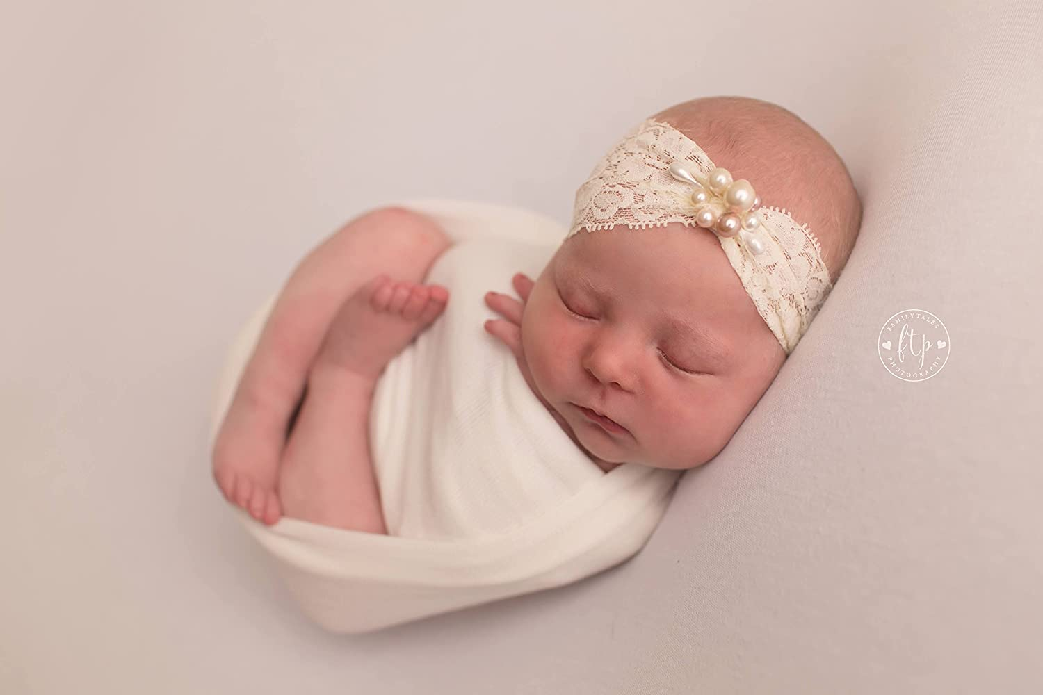 3 months 3-6 months 6-12 months Baby Headband Ivory lace butterfly newborn