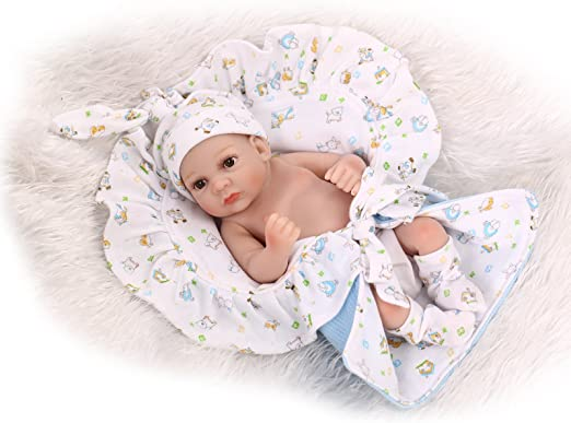 Real Life 10inch Full Vinyl Reborn Doll Newborn Baby Boy Doll Birthday Gift