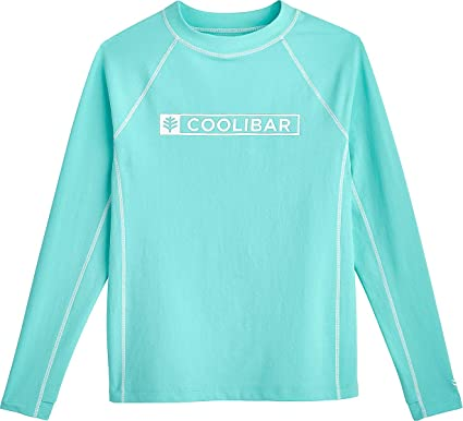 929278c8d76a4 Amazon.com: Coolibar UPF 50+ Girl's Logo Surf Rash Guard - Sun Protective:  Clothing