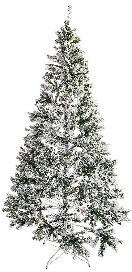 8429d8dc6c2 Amazon.com  Artificial Christmas Tree. This Fake Xmas White Tree 8 ...