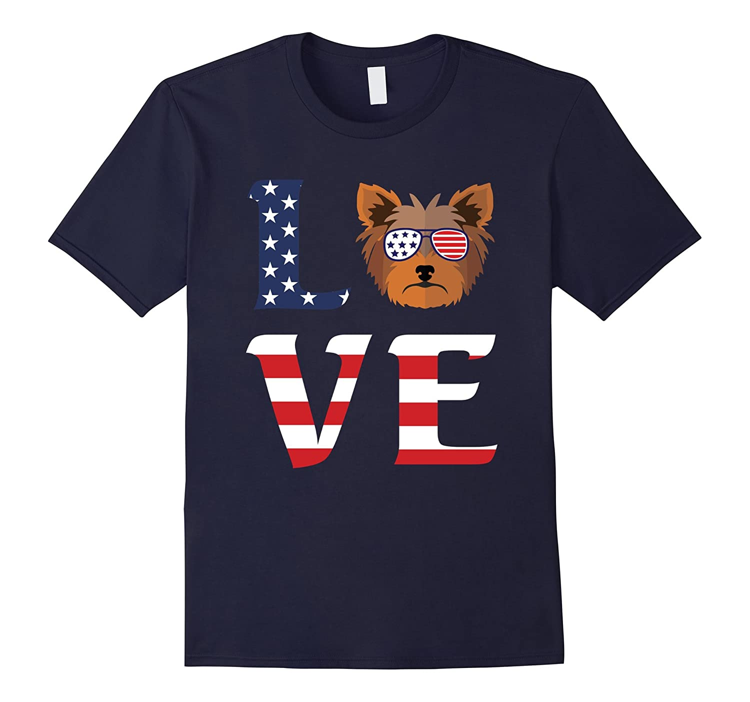 Yorkshire Terrier Dog Love Independence Day 04 July 17 Shirt-Art