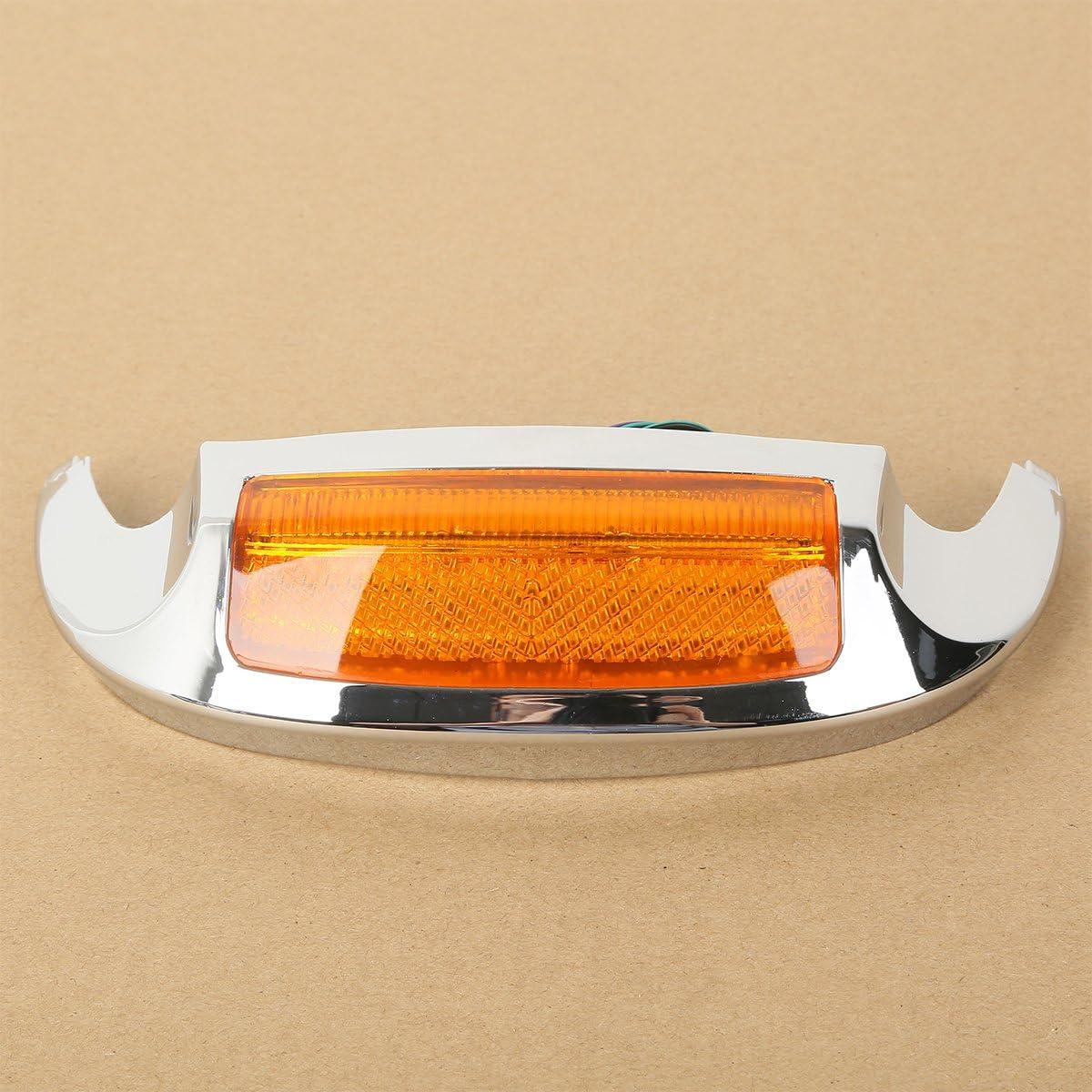 SLMOTO Front LED Fender Tip Amber Light For Harley Electra Glide Ultra Limited 2009-up