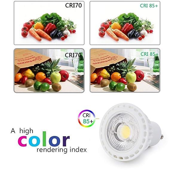 38° Beam Angle 3W GU10 LED Bulbs Daylight 5000K 30W Equivalent CRI85+ LED MR16 GU10 Non Dimmable 300 Lumens 120V Bombilla Light Bulb for Ceiling Light ...