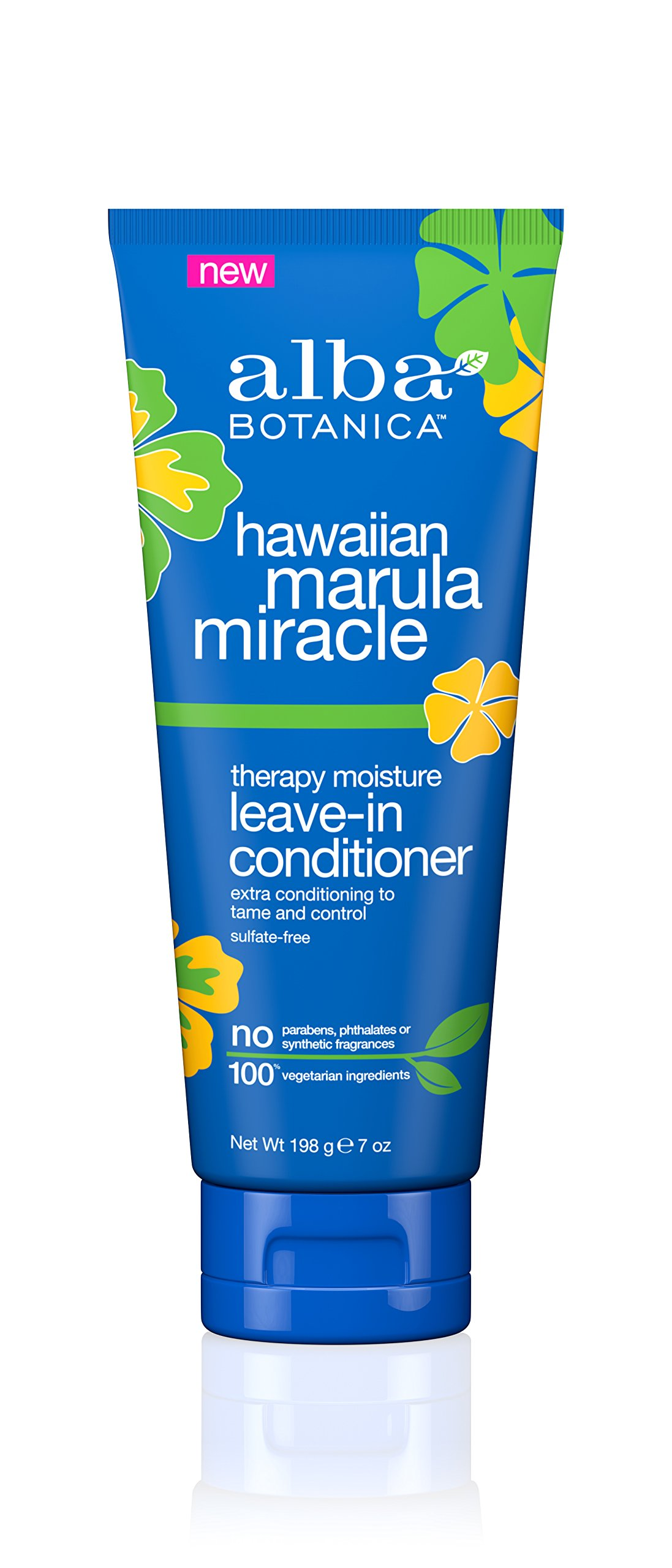 Alba Botanica Hawaiian Marula Miracle Therapy Moisture Leave-In Conditioner, 6 Count