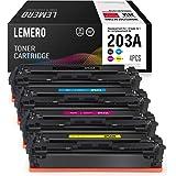 4 LEMERO Compatibili 203A CF540A CF541A CF542A CF543A Cartucce di toner per HP Color Laserjet Pro M254dw M254nw MFP M281FDN M281FDW M280NW
