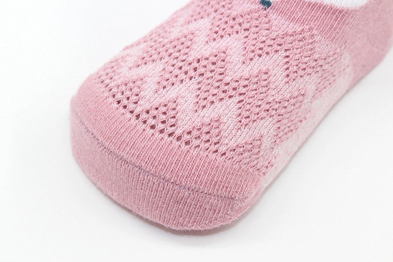 5 Pairs Newborn Baby Low Cut Socks Cute Animal Toddler Cotton Ankle Crew Socks 0-12M
