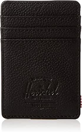 Herschel Raven Unisex Wallet, Black Pebbled Leather