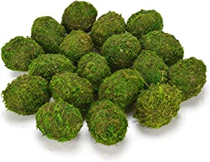 Byher Decorative Moss Eggs, Moss Balls for Home Decor (Pack of 18)