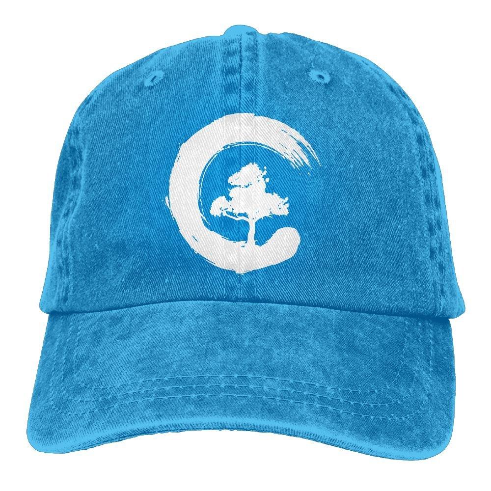2018 Adult Fashion Cotton Denim Baseball Cap Bonsai Tree Enso Circle-1 Classic Dad Hat Adjustable Plain Cap