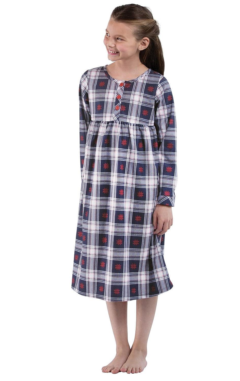 Amazon.com: PajamaGram Girls\' Classic Plaid Flannel Nightgowns: Clothing
