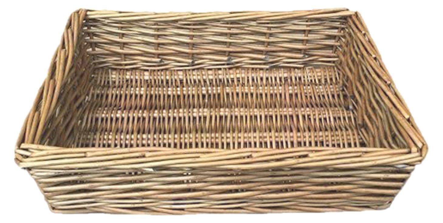 Rojo cesta blanco juego de bandejas de mimbre con forma de corazón de lavado, mimbre, marrón, 39 x 10 x 30 cm: Amazon.es: Hogar