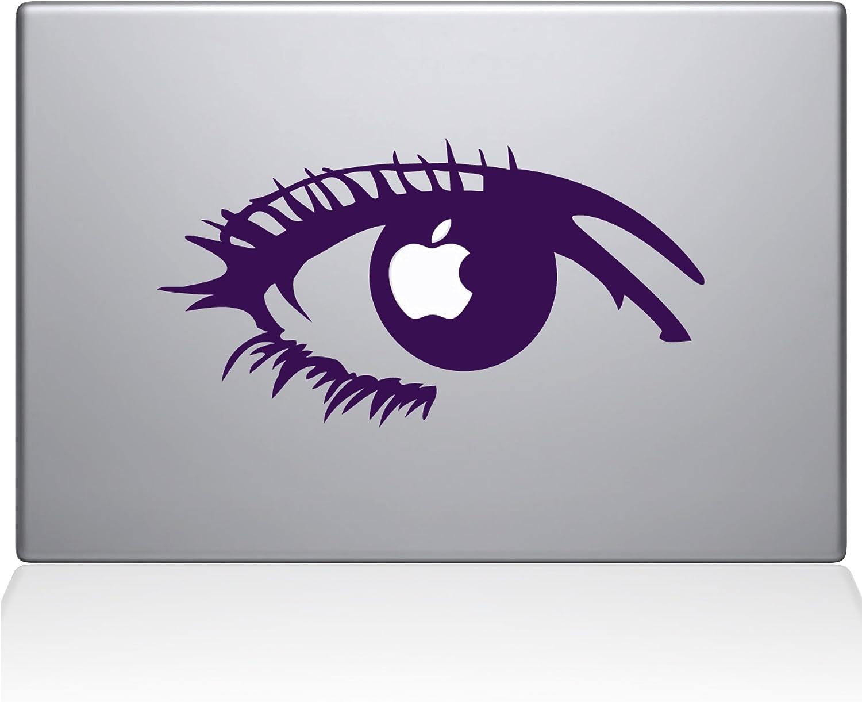 "The Decal Guru 0160-MAC-12M-LAV Apple of My Eye Vinyl Sticker, 12"" MacBook, Purple"