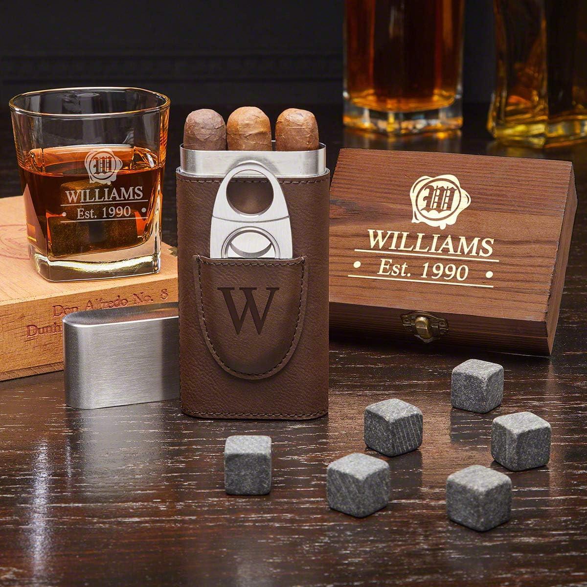 Wax Seal Personalized Whiskey Box Set Custom Product