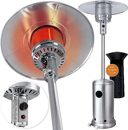 KESSER® Heizstrahler Gas KE12 Heizpilz für Terrasse Terrassenheizer Terrassenheizstrahler, Freiluftheizung 12,5 kW Gasheizstrahler gasheizer,…
