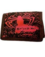 "Spiderman ""Red Spider"" Black Nylon Tri-fold Wallet"