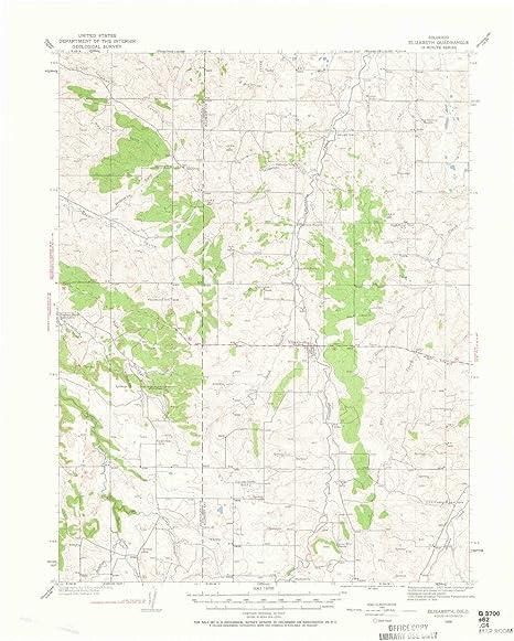 Amazon Com Yellowmaps Elizabeth Co Topo Map 1 62500 Scale