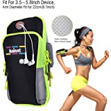 """Kainnt Breathable Sports Armband, Dual&Multifunctional Pockets Armband for jogging, running and exercise, Dual Pockets Workout Running Armband for iphone 7, 7 plus, 6, 6plus,6s,6s plus 5, 5s, 5c,Galaxy S5,S4, LG G5 G6 and all """"3.5~5.8"""" Smartphones"""