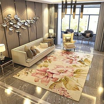 American Pastoral Style Area Teppich Für Wohnzimmer   Traditionelle  Blumenmuster   Nordic Modern Border Matte Für