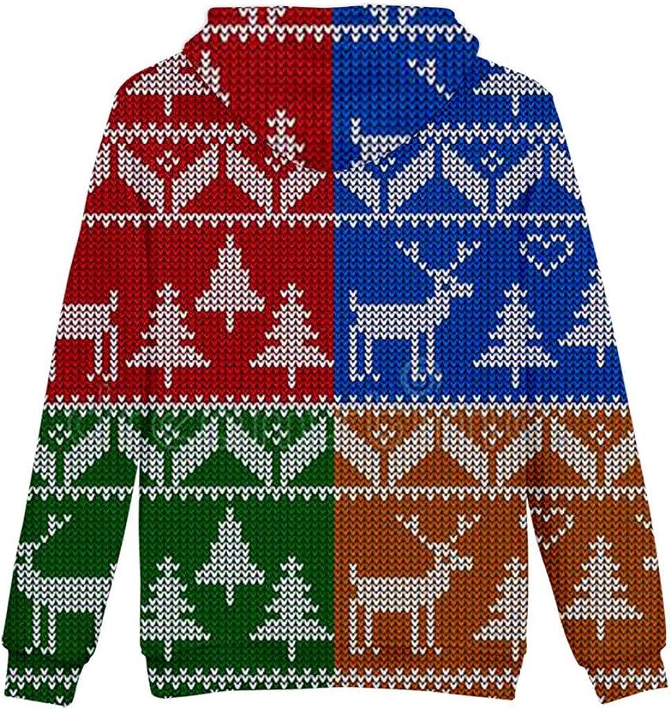Holzkary Unisex Cool Printed Sweatshirts Casual Christmas Pocket Hoodie//Baseball Uniform