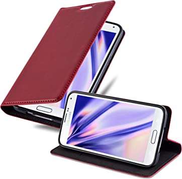 Cadorabo Funda Libro para Samsung Galaxy S5 / S5 Neo en Rojo Manzana: Amazon.es: Electrónica