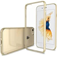 Luvvitt Clear View iPhone 7 Case / iPhone 8 Case with Hybrid Back Cover (Transparent Gold)