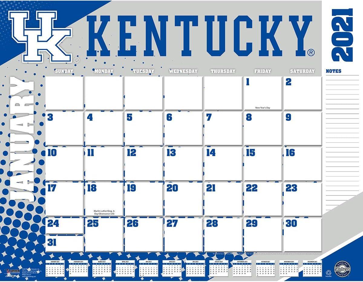 TURNER Sports Kentucky Wildcats 2021 22X17 Desk Calendar (21998061481)