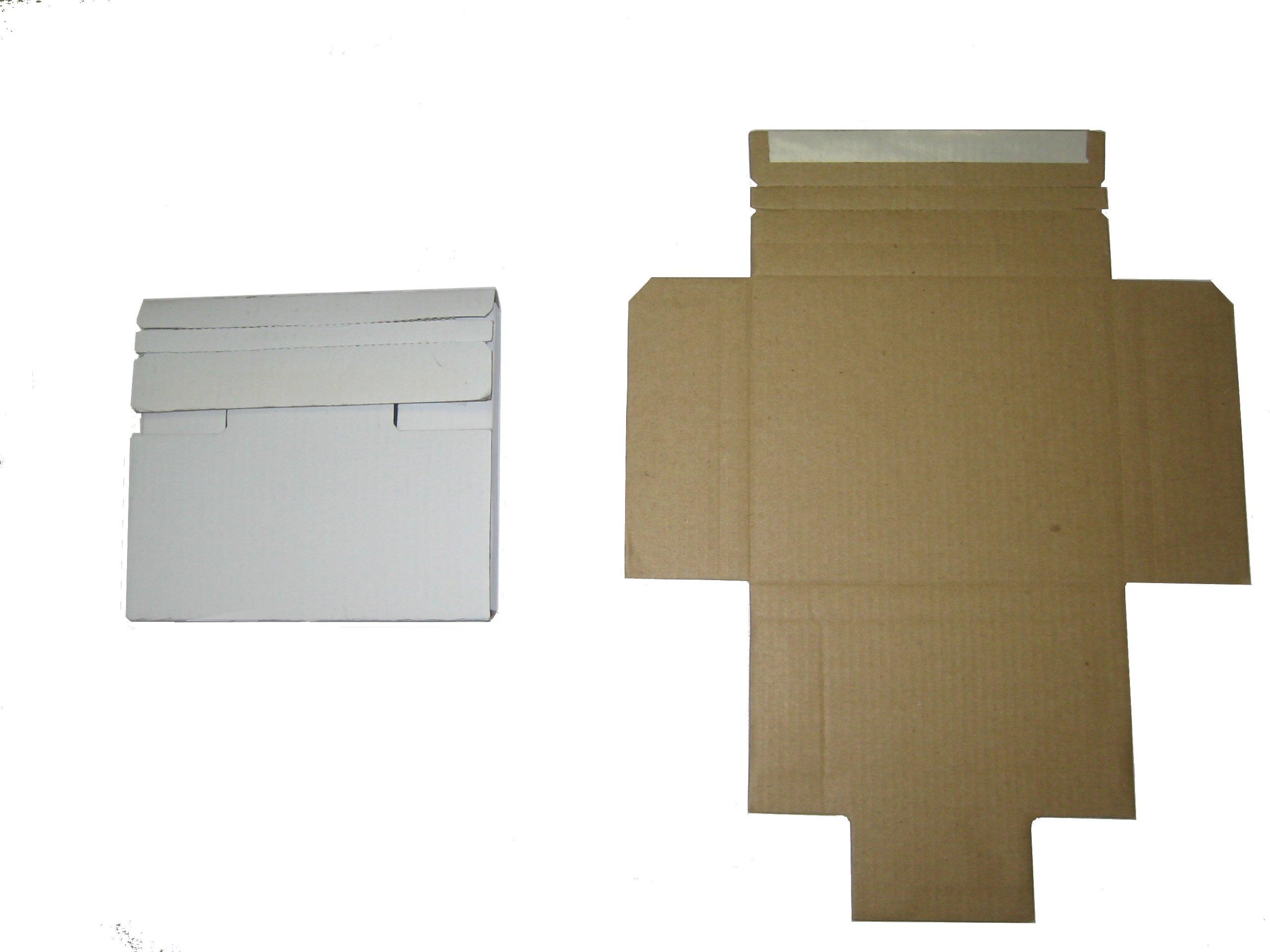 5 1/2'' 30 PT CARDBOARD CD/DVD MAILER W/SEAL, JS87, 100 PCS/CS
