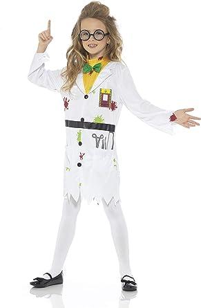 Karnival Costumes Disfraz de científico Loco para niña, Blanco ...