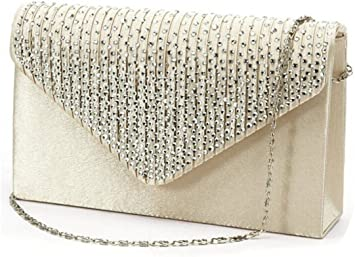 Women Lady Party Wedding Clutch Purse Sparkling Evening Prom Bag Chain Walle ORY