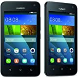 Huawei Y3 Smartphone Y360 U-31 nero (Display 4 Pollici IPS, Processore 1,3 GHz Quad-Core, Fotocamera 5 MP, Memoria 4 GB, Android 4.4)