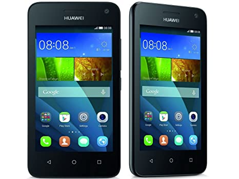 Huawei Y360 (Genuine UK Stock) Sim Free Smartphone - Black (4 inch,1 2GHz  quad core processor, 5MP camera, 2MP Front Camera, Android 4 4 KitKat, 4GB