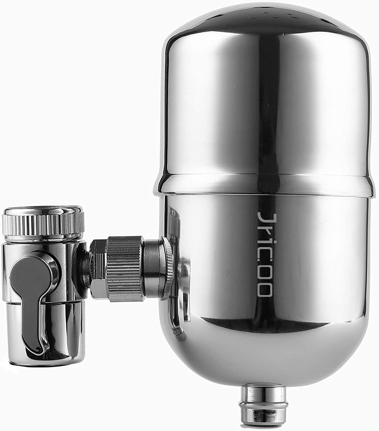 Jricoo Water Filter Faucet Stainless Steel Faucet Mount Water Filtration System 320-Gallon Long with Carbon Fiber,Home Kitchen Healthy Drinking Water Filter