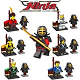 ミニフィギュア ミニフィグ 忍者6体セット 剣道着付き 武器付き レゴ対応 互換